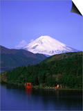 Ashinoko, Hakone and Mt. Fuji, Japan Poster by David Ball