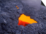 Aerial View of Lava Beneath Crust, Volcano National Park, HI Prints by Yvette Cardozo