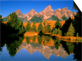 Teton Range in Autumn, Grand Teton National Park, WY Print by Russell Burden