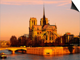 Morning Light on Notre Dame, Paris, France Prints by Walter Bibikow