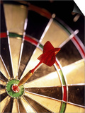 Dart in Bull's Eye of Dart Board Prints by Greg Smith