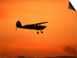 Silhouette of Small Airplane in Flight Art by Kyle Krause