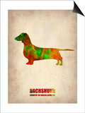 Dachshund Poster 2 Poster by  NaxArt