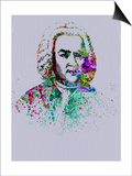Bach Watercolor Poster by Anna Malkin