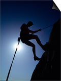 Silhouette of Rock Climber, Boulder, Colorado, USA Posters