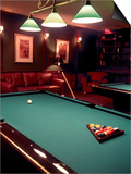 Racked Set of Balls, Boston Billiards, MA Prints by John Coletti