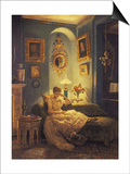 An Evening at Home Posters by Edward John Poynter