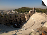 View of an Amphitheater, Odeon of Herodes Atticus, Acropolis, Athens, Attica, Greece Prints