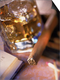 Cigar and Liquor with Ice Cubes Prints by Ellen Kamp
