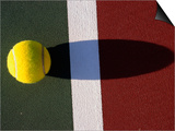 Tennis Ball on Court Print by Mitch Diamond