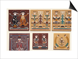 Navajo Sand Paintings on Tiles Displayed for Sale at the Intertribal Indian Ceremonial in Gallup Posters