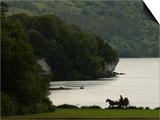 Ireland, Killarney, Horse and Cart by Lake Poster di Keith Levit
