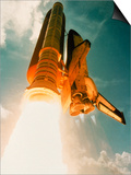 Space Shuttle Lifting Off Prints by David Bases