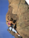 Female Rock Climber Posters