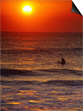 Surfer at Sunrise, FL Prints by Jeff Greenberg