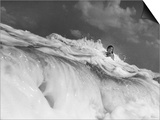 S. Florida, Woman Playing in Surf Poster by Pat Canova