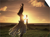 Polynesian Dancer, Ahu Tahai, Easter Island Posters by Angelo Cavalli