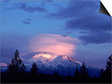 Mt. Shasta at Dusk Posters by Mark Gibson
