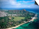 Waikiki Beach, Diamond Head, Hawaii Prints by Tomas del Amo