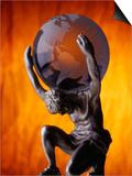 Atlas Statue Holding Up the World Prints by Matthew Borkoski