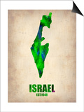 Israel Watercolor Map Print by  NaxArt