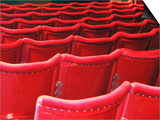 Rows of Red Theatre Seats Posters by Kevin Walsh