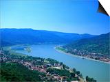 Danube Bend, Visegrad, Hungary Prints by David Ball