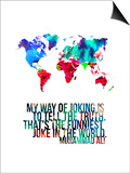 World Map Quote Muhammad Ali Posters by  NaxArt