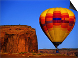 Arizona, Monument Valley, Hot Air Balloon Art by Russell Burden