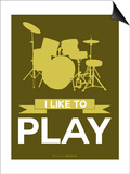 I Like to Play 5 Print by  NaxArt
