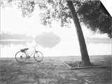 Bicycle and Bay Mau Lake Lenin Park Prints by Walter Bibikow