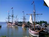 Ship Replicas, Jamestown Settlement, VA Posters by David Ball