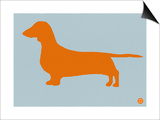 Dachshund Orange Art by  NaxArt