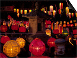 Lit Lanterns, South Korea Prints by Thomas McGuire
