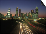 Night Skyline, Atlanta, Georgia Print by Kevin Leigh