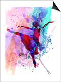 Ballerina's Dance Watercolor 1 Lámina por Irina March