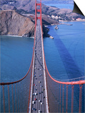 Top of Golden Gate Bridge, San Francisco, CA Posters by Shmuel Thaler