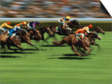 Thoroughbred Race in Action Prints by Peter Walton