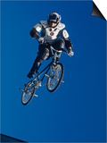 Bmx Cyclist Flys over the Vert Prints