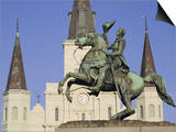 Jackson Square, St. Louis Cathedral, New Orleans, Louisiana, USA Art by Charles Bowman