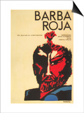 Red Beard, Cuban Movie Poster, 1964 Posters