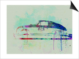 Porsche 356 Watercolor Print by  NaxArt