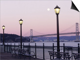 Street Lamps with Bridge in the Background Posters by Robin Allen