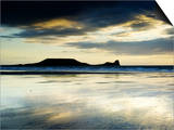 The Worms Head, Gower Peninsula, South Wales Plakat af Martin Page