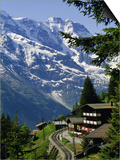 Alpine Railway, Murren, Jungfrau Region, Bernese Oberland, Swiss Alps, Switzerland Posters by Roy Rainford