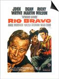 Rio Bravo, German Movie Poster, 1959 Prints