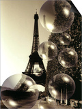 The Eiffel Tower with Bubbles Print by Abdul Kadir Audah