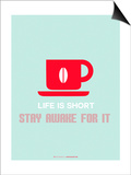 Coffee Poster Red Prints by  NaxArt