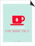 Coffee Poster Red Lámina por NaxArt