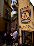 Tapas Bar, Barrio Santa Cruz, Seville, Andalucia, Spain Prints by Jean Brooks